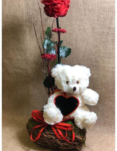 Peluche de amor San Valentín