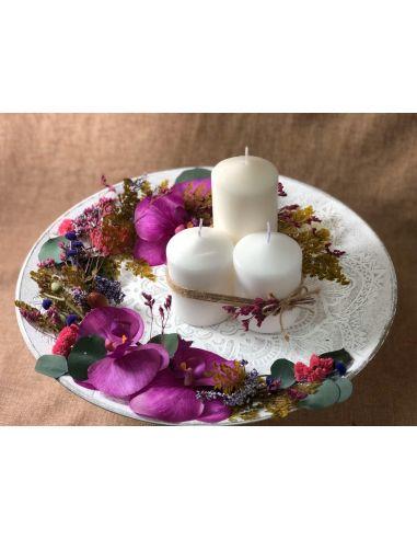 Centro de mesa con velas mod. 4