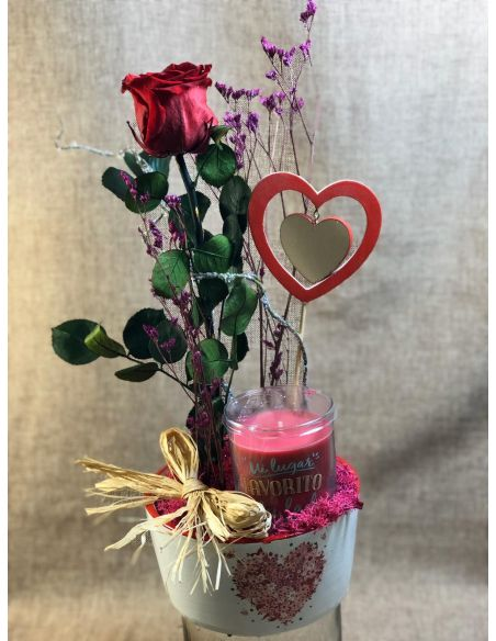 Base cerámica con corazón mod.4