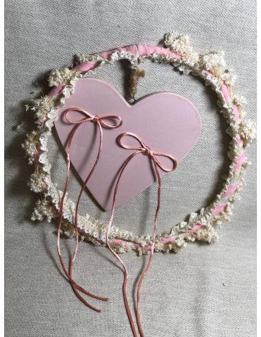 Aro con corazón rosa